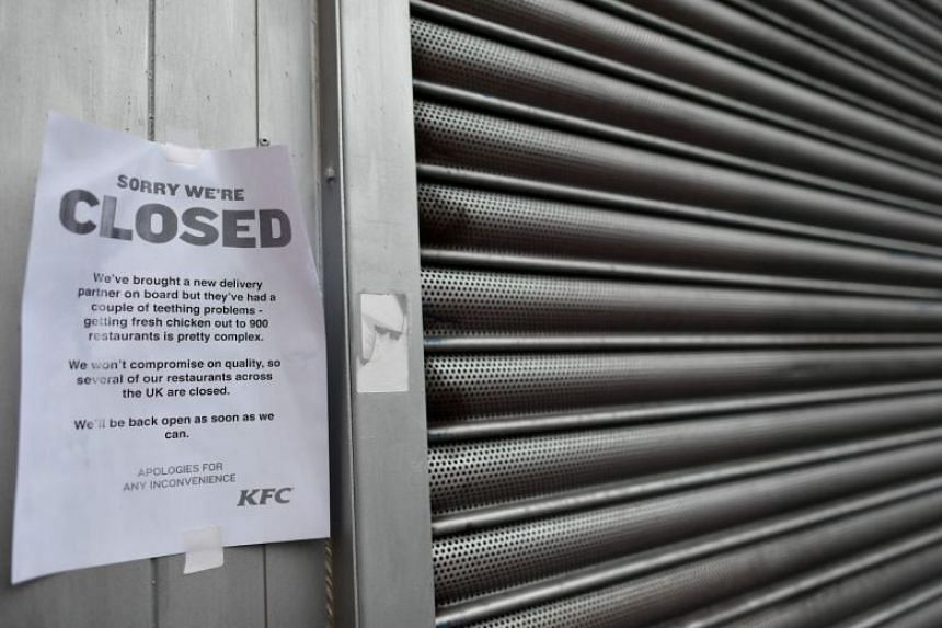 The crisis erupted over the weekend when KFC switched its delivery contract to German delivery supplier DHL, leading to the closure of 700 of its British stores.