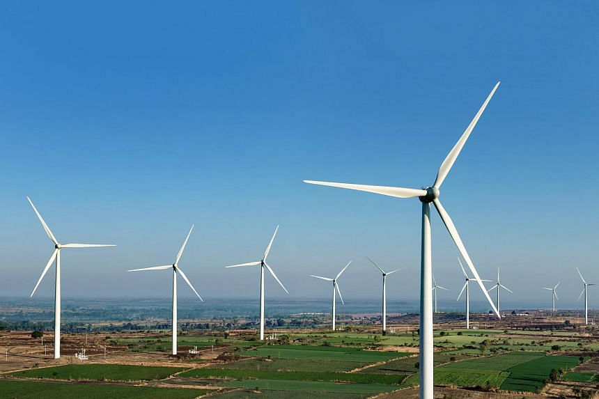 Wind turbines in India. Sembcorp Industries said that the move is to build a platform for growth and sustainability of its India energy business.