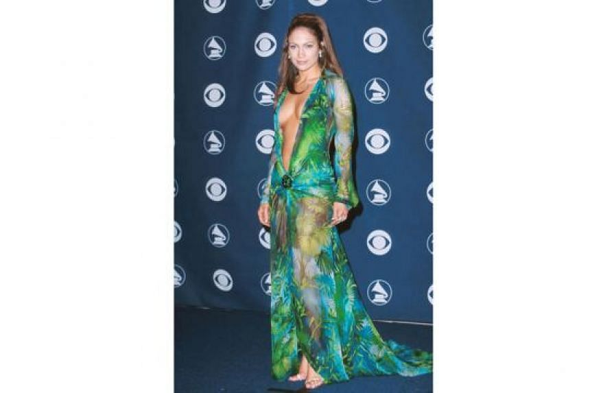 Other celebrities who have made headlines with their outfits include R&B queen Beyonce in Givenchy in 2015, singer-actress Jennifer Lopez (above) in Versace in 2000 and actress Angelina Jolie in Versace in 2012.