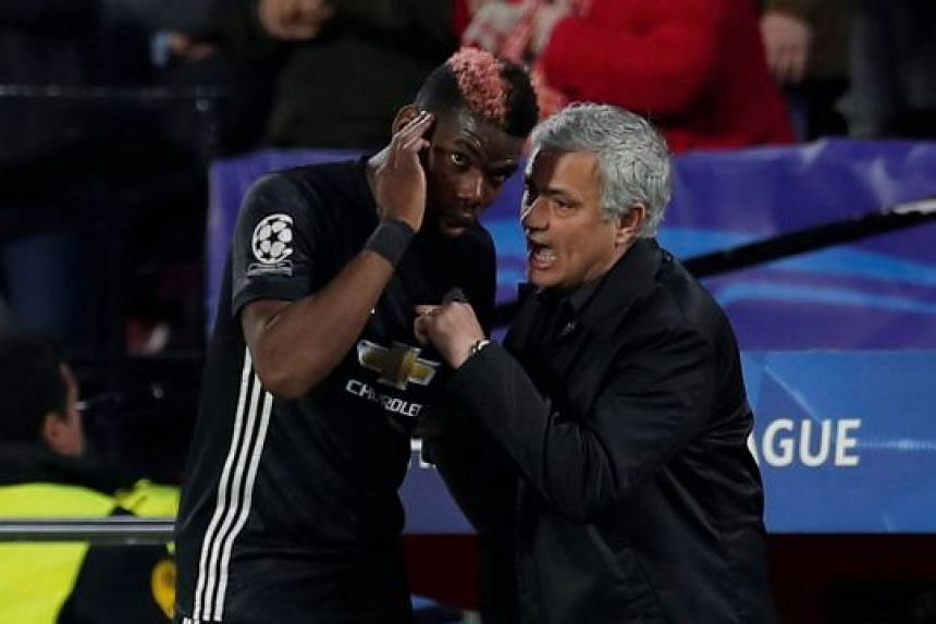 While record signing Paul Pogba was omitted from Jose Mourinho's first XI, the United manager had no option but to bring on the Frenchman in the 17th minute to replace the injured Ander Herrera.