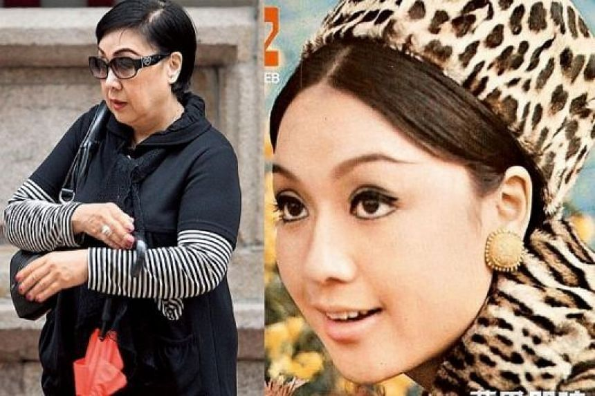 Left: Li seen in 2012. She is said to have been mired in gambling debts and money problems in her later years. Right: Li was one of the hottest stars in the 60s and 70s.