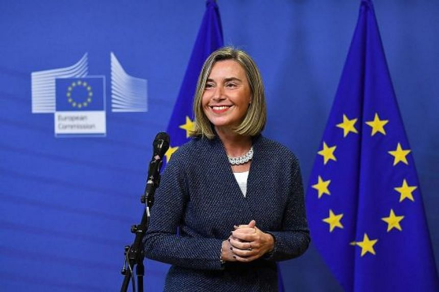 The European Union is calling on its foreign policy chief, Ms Federica Mogherini, to draw up a list of Myanmar generals to be targeted for sanctions over the Rohingya issue. The EU also wants to strengthen its arms embargo on Myanmar.