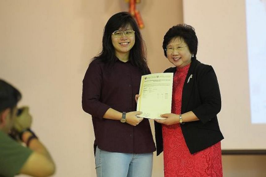 Millennia Institute student Gwen Tan had to repeat her first school year, but she resolved to be more diligent and managed to score two As, a vast improvement from the failing grades she got in her first promotional exam four years ago. She plans to
