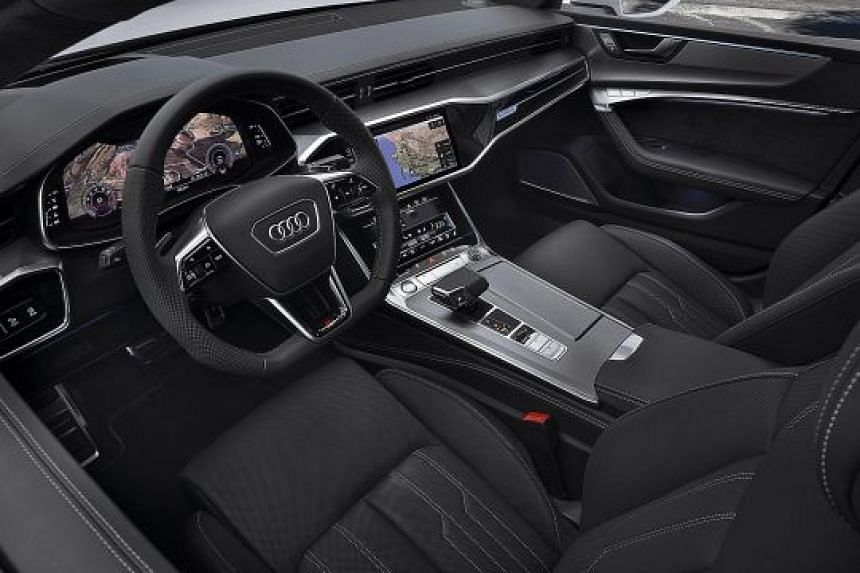 The Audi A7 Sportback is equipped with a fully digital dashboard, with three high-definition touchscreen displays.