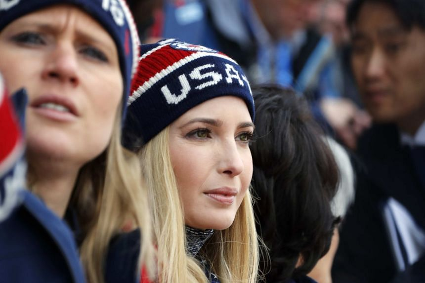 US President Donald Trump's daughter Ivanka attends the final of the men's snowboard big air event at the Alpensia Ski Jumping Centre during the Pyeongchang 2018 Winter Olympic Games on Feb 24, 2018.