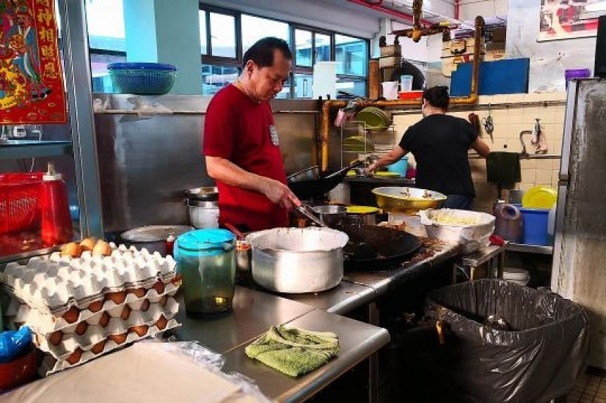 Hawker Tan Lip Hong, who owns Feng Ji Shu Shi Char Kway Teow and has been frying his popular dish for more than 30 years, is among stall owners at Beauty World Food Centre hoping to find recipe buyers.