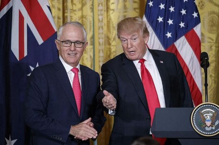 Australian Prime Minister Malcolm Turnbull with US President Donald Trump at the White House on Friday, where the two leaders held talks.