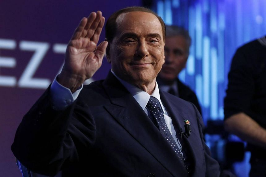 Italy's former Prime Minister and leader of the Forza Italia party, Silvio Berlusconi, in Rome, Italy on Feb 21, 2018.