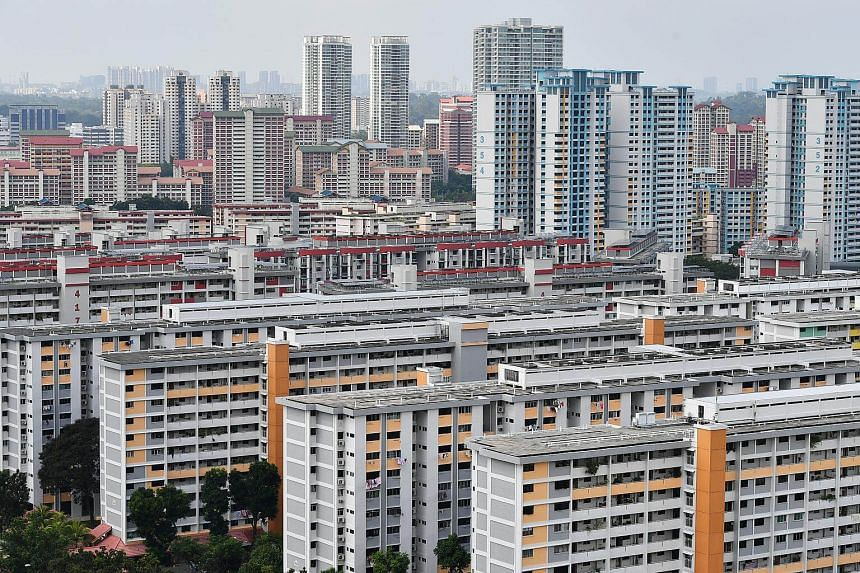 Housing Board flats in Ang Mo Kio. Banks have hiked interest rates for both fixed and floating home loan packages recently by 10 to 30 basis points. S