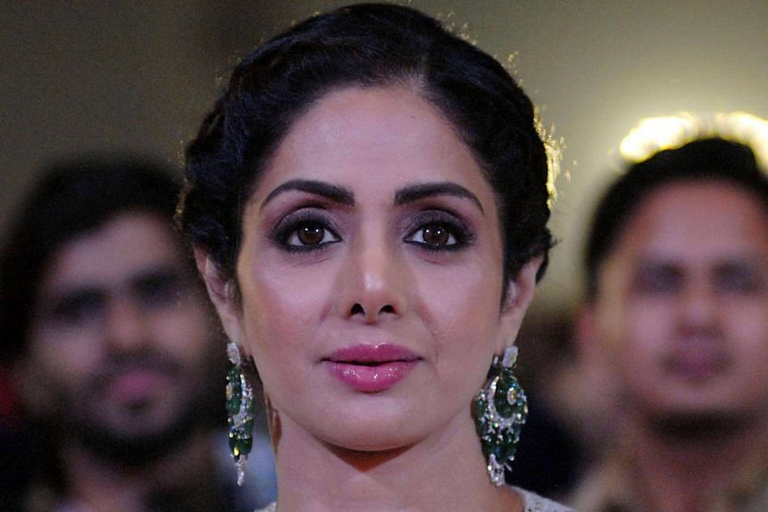 Indian Bollywood actress Sridevi Kapoor during the Umang Mumbai Police Show 2018 in Mumbai, on Jan 13, 2018.