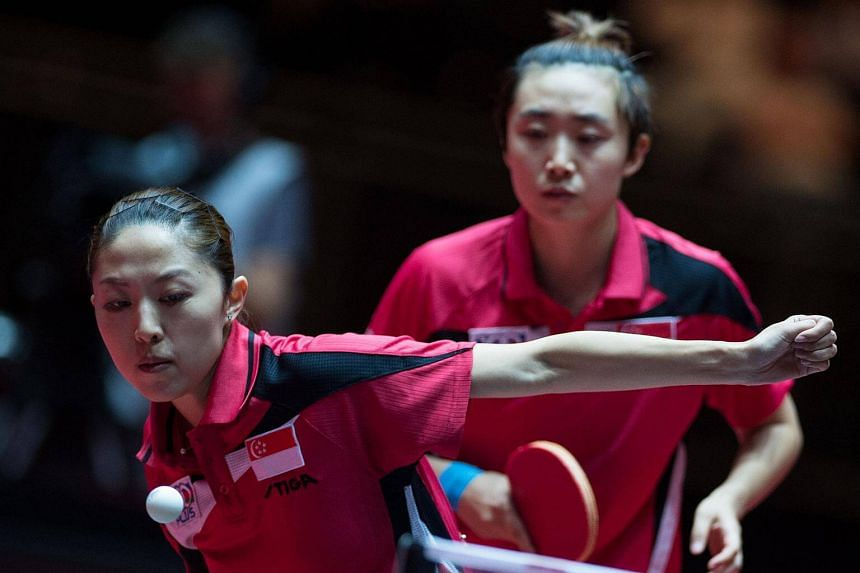 Singapore were represented by Feng Tianwei (right), Yu Mengyu (left), Zhang Wanling and Yee Herng Hwee.