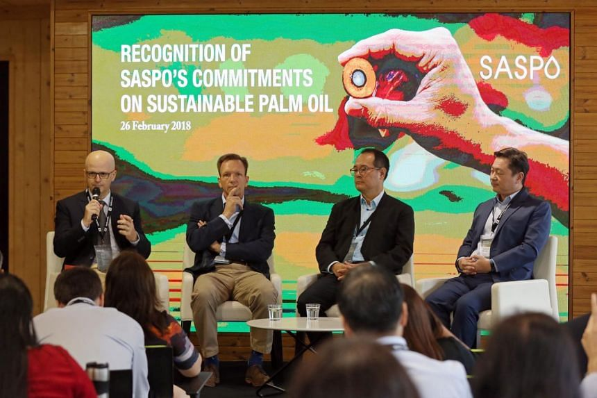 (From left) Herve Simon, group marketing director of Ayam Brand, Mike Barclay, CEO of Mandai Park Holdings, Andrew Tjioe, CEO of TungLok Group and Andrew Kwan, Group Managing Director of Commonwealth Capital, at the announcement of new members for th