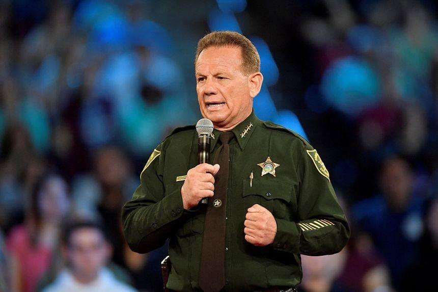 Broward County Sheriff Scott Israel speaking ahead of a CNN town hall meeting on Feb 21, 2018.