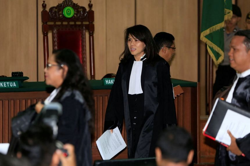 Ms Fifi Lety Indra, sister of former Jakarta governor Basuki Tjahaja Purnama, is also acting as his lawyer.