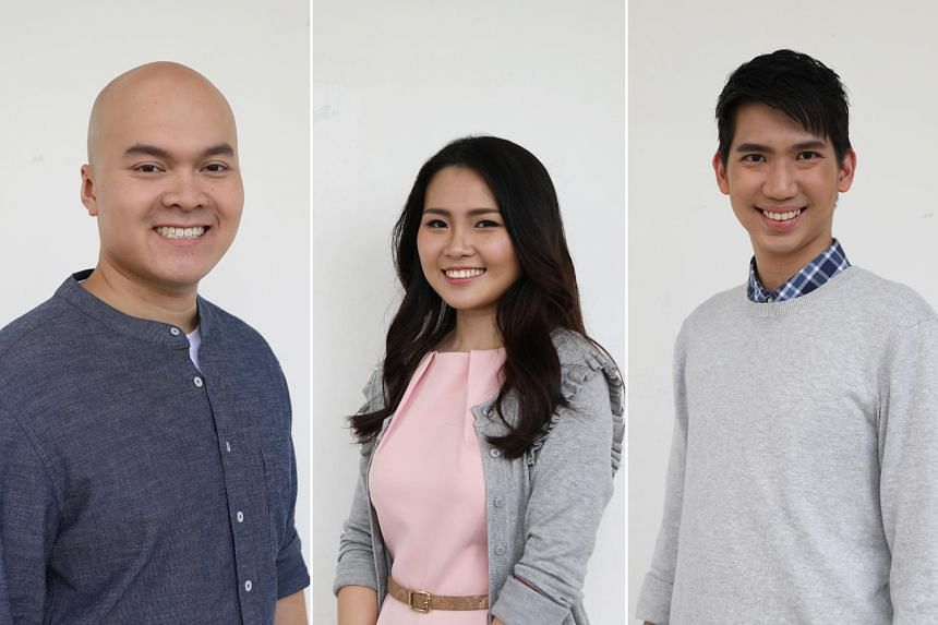 Mr Nadim, Ms Jeslin Gan and Mr Isaac Long (left to right) use their engineering skill sets to build and defend Singapore. PHOTOS: PUBLIC SERVICE DIVISION, PRIME MINISTER'S OFFICE