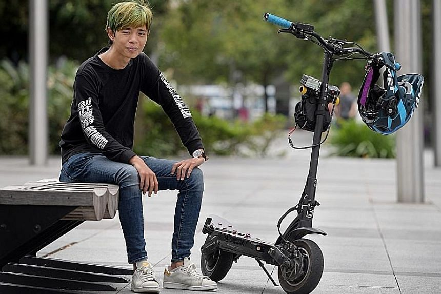 Food delivery rider Dayan Lim had his e-scooter stolen last month, but was able to recover it with the help of e-scooter enthusiast group Just Visited, which managed to track down the culprit.