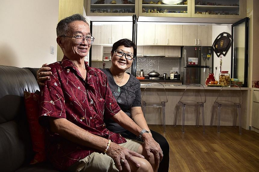 Mr Yeoh Seh Dong, 69, and his wife, Madam Koh Kim Keow, 68, moved into their two-room flexi flat with a 30-year lease last December after selling their five-room flat in Marsiling.