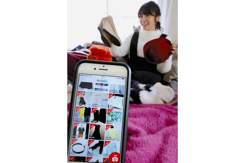For 27-year-old Ai Saka, most of the items she uses daily, such as clothing and shoes, were used items bought via popular flea-market app Mercari.