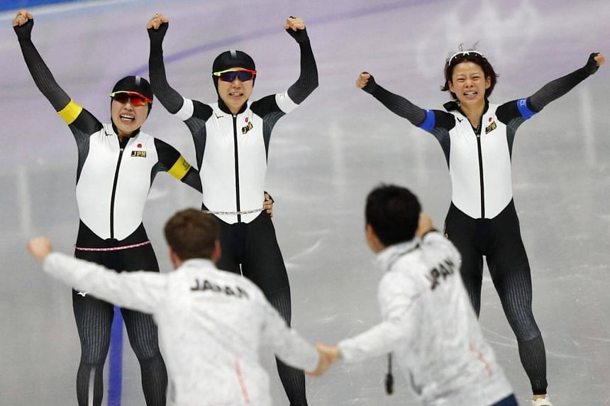 The Japanese trio of Miho Takagi, Ayano Sato and Nana Takagi set an Olympic record of 2min 53.89sec.