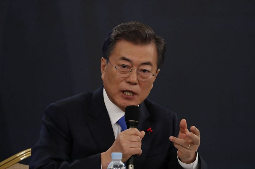 South Korean President Moon Jae In said he applauded those who had the courage to tell their stories of gender violence, and called on police to investigate the growing number of sexual abuse claims in South Korea.