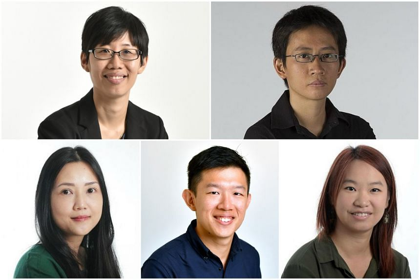 ST correspondents (clockwise, from top left) Chong Koh Ping, Tan Hui Yee, Charissa Yong, Danson Cheong and Claire Huang.