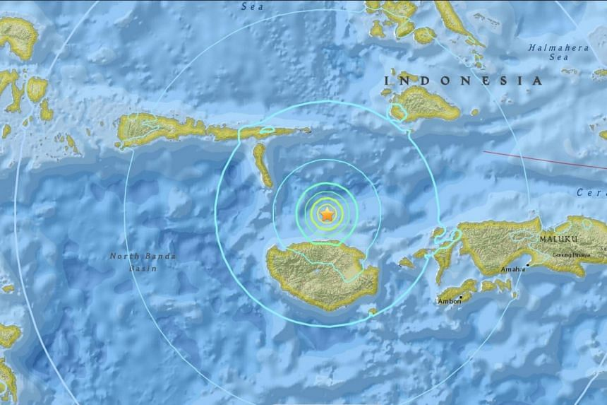 The quake was recorded at a depth of about 39km.