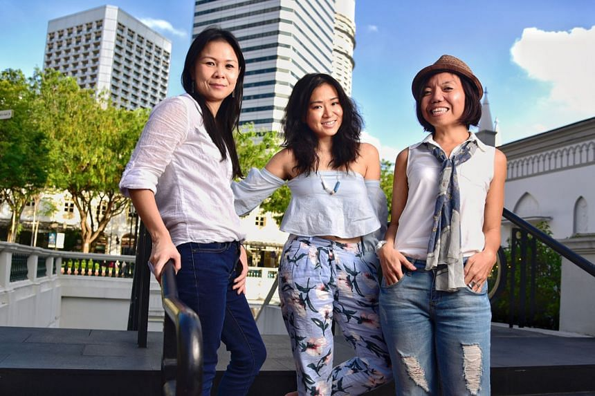 (From left) Ms Jessica Cheam, Ms Inch Chua and Ms Anthea Ong will set off from Argentina on Feb 27, 2018, on an expedition to advocate climate change.