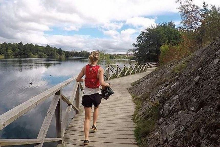 """""""Plogging"""" is a mash-up of jogging and the Swedish """"plocka upp,"""" meaning pick up. In this case, litter."""