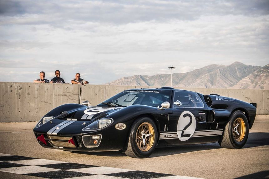Top Gear hosts (from left) Matt LeBlanc, Rory Reid and Chris Harris with a Ford GT40 in Utah.