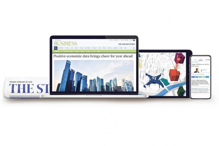 Depending on the package subscribers choose, they can enjoy unlimited access to stories delivered by the newsroom round the clock on the ST website, mobile and tablet apps, and in print.