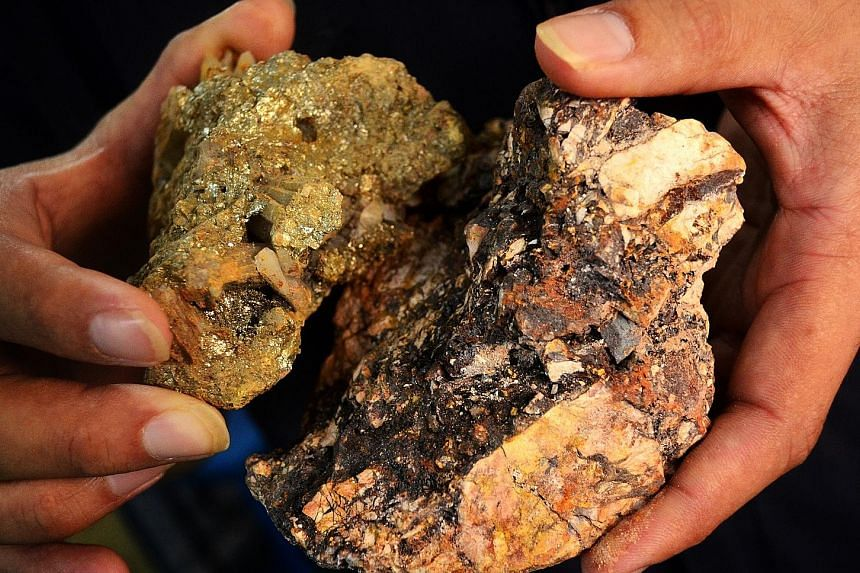 Ore from the CNMC gold mine in Kelantan. The company's production has been affected since late 2016 by lower ore grades in certain parts of its Sokor gold mine. However, the bottom line was boosted by a decline in management remuneration and employee