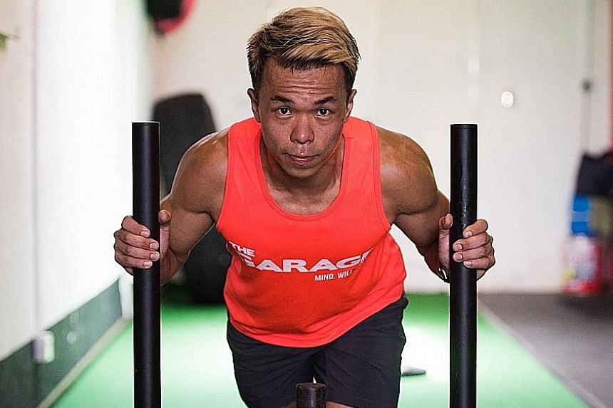 Mr See Wee Jie says those wanting to improve their physique need to devote 45 to 60 minutes every day to pumping iron.