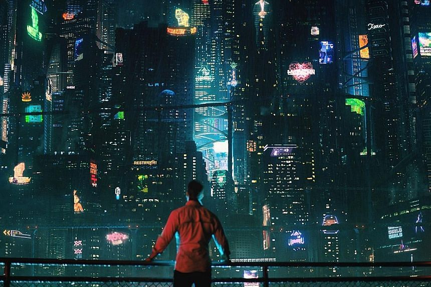 The Netflix series Altered Carbon boasts stunning visuals of a futuristic world.