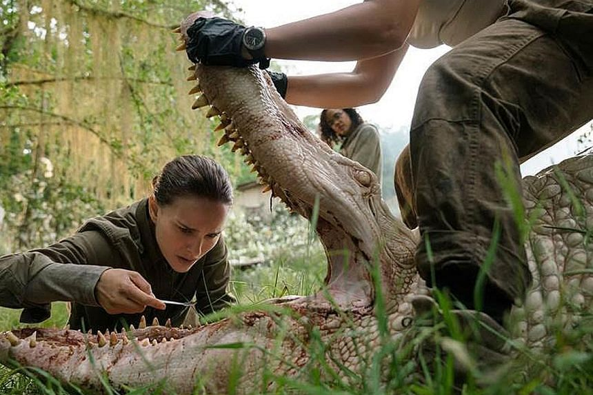 Annihilation stars Natalie Portman as a former soldier investigating what happened to her husband inside Area X, a quarantined zone that is overrun by strange creatures and changing landscapes.