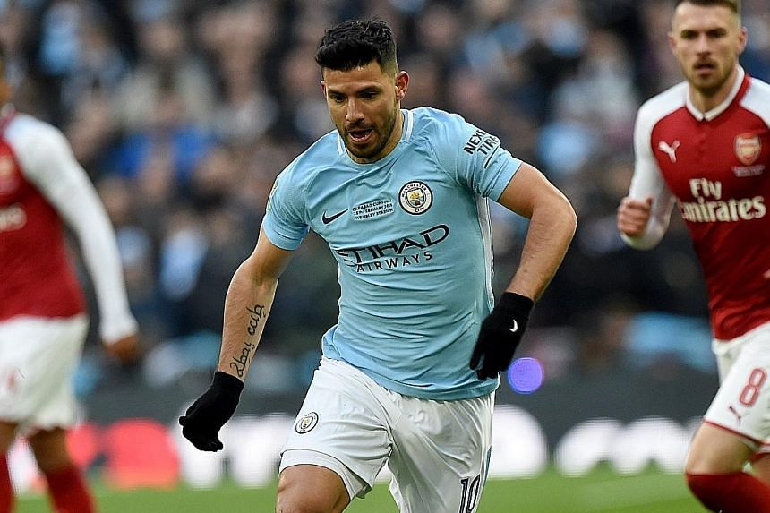 Striker Sergio Aguero gave City the lead in the 18th minute - his 15th goal in 13 appearances - the best ratio among players in the top five European leagues.