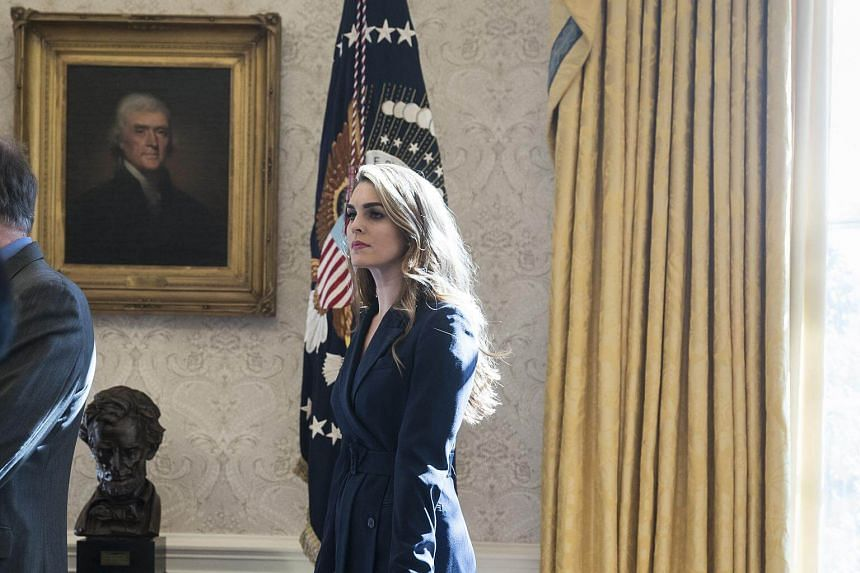 White House communications director Hope Hicks' appearance before the committee is scheduled for 10am (11pm Tuesday Singapore time).