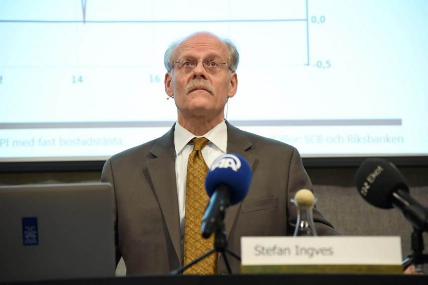 Riksbank Governor Stefan Ingves presenting interest rates during a news conference in Stockholm, Sweden, on Feb 11, 2016.
