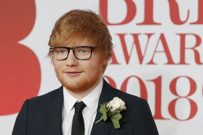 Ed Sheeran arriving for the 2018 Brit Awards in London.