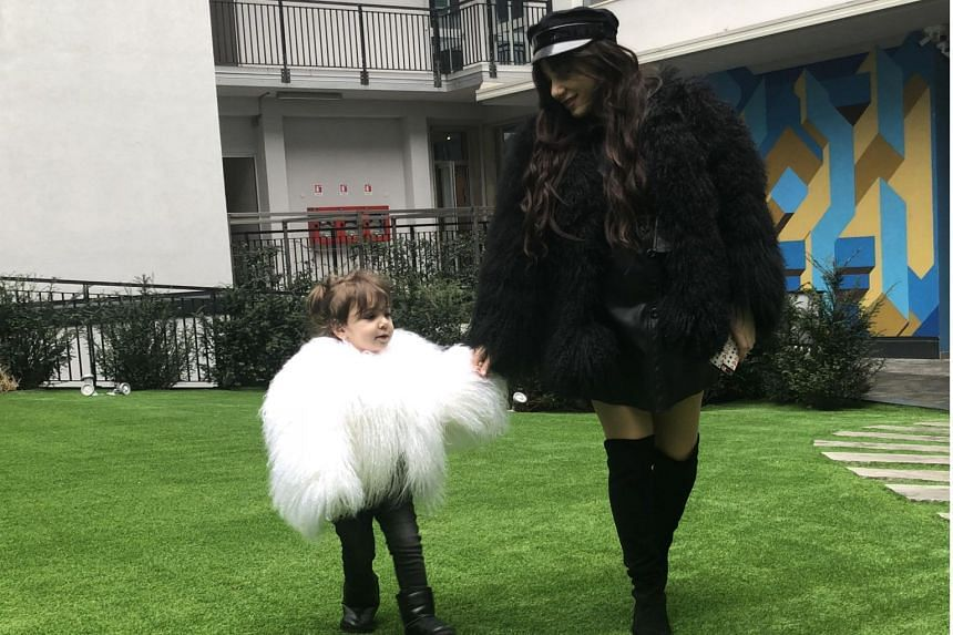 Homemaker Anna Ajiashvili and her daughter Ariela dressed up to attend the Dolce & Gabbana show, which they have attended for three seasons so far.