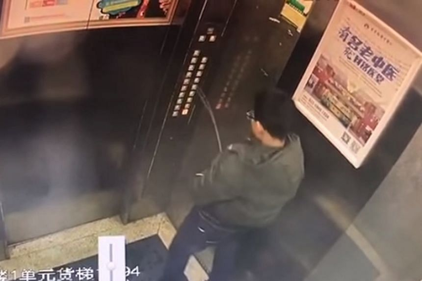 A boy in China urinated over a set of lift buttons, causing the lift to short circuit.