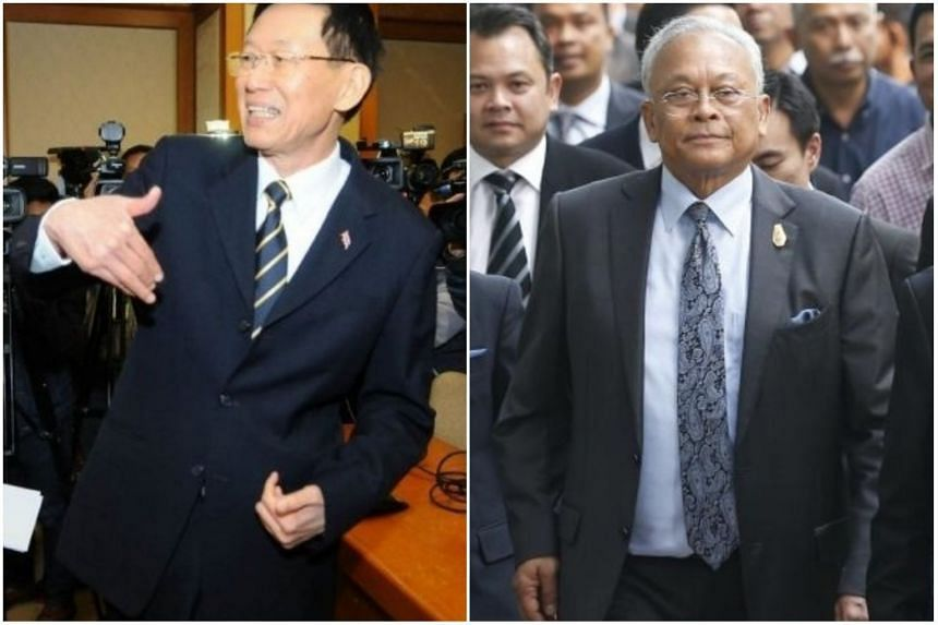 Parties include the Reform People Party initiated by former senator Paiboon Nititawan (left) and the Great Mass of People Party initiated by veteran politician Suthep Thaugsuban.