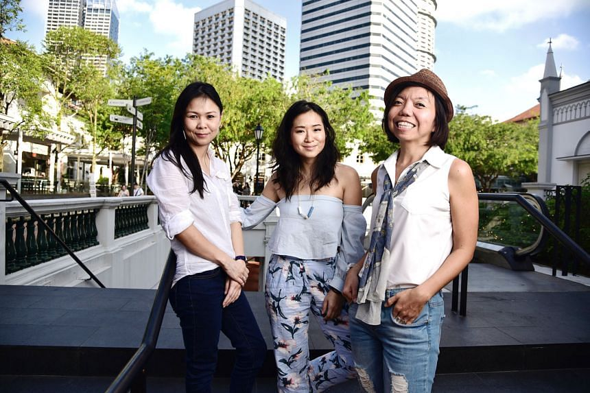 (From left) Ms Jessica Cheam, Ms Inch Chua and Ms Anthea Ong are joining the expedition., which will include workshops on climate change, energy solutions, sustainability and recycling, and activities such as daily hikes and whale-watching.