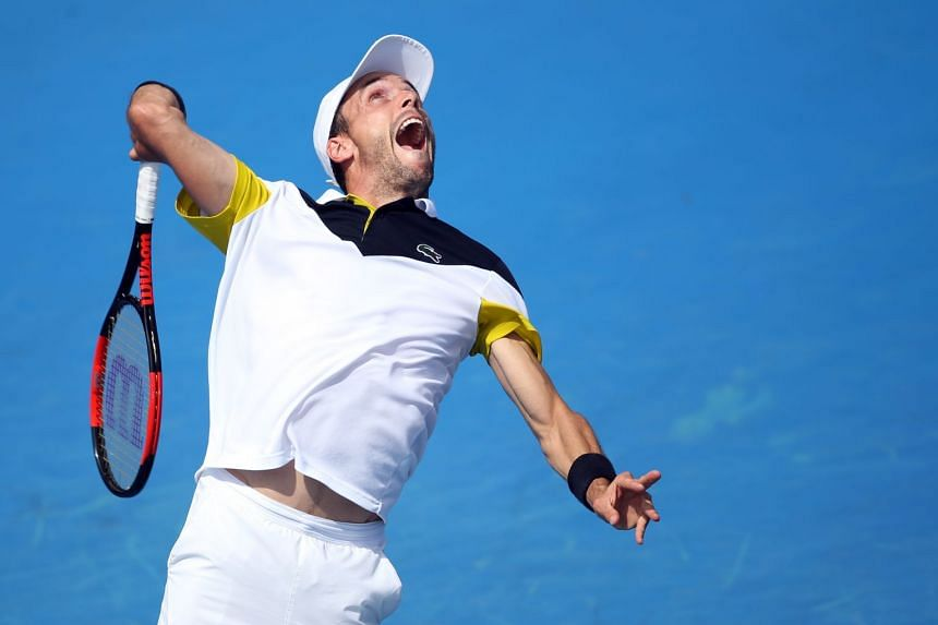 Bautista Agut (above, in a file photo) beat Florian Mayer 6-3, 6-4.