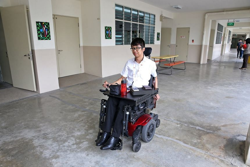 Mr Wong Zi Heng, 26, became paralysed from chest down when he was just 21-years-old after an accident.