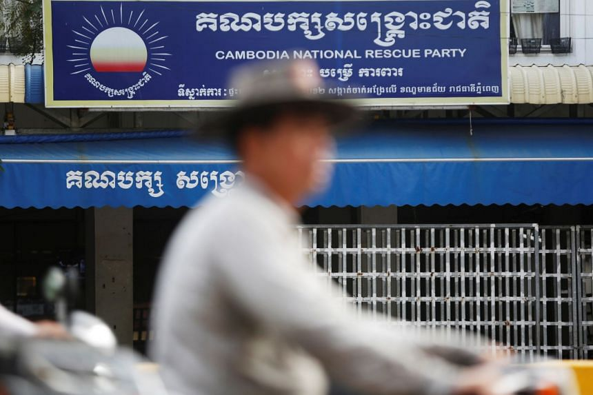 Judge Ros Piseth ordered the seizure of the Cambodia National Rescue Party headquarters, which was also Sam Rainsy's former home, in the capital, Phnom Penh.