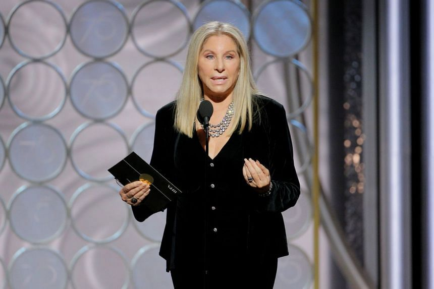 Streisand appearing as an award presenter at the 2018 Golden Globe Awards.