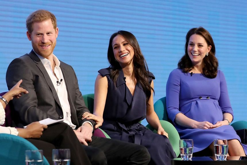 (From left) Prince Harry, fiancee Meghan Markle and Catherine, Duchess of Cambridge at the event.