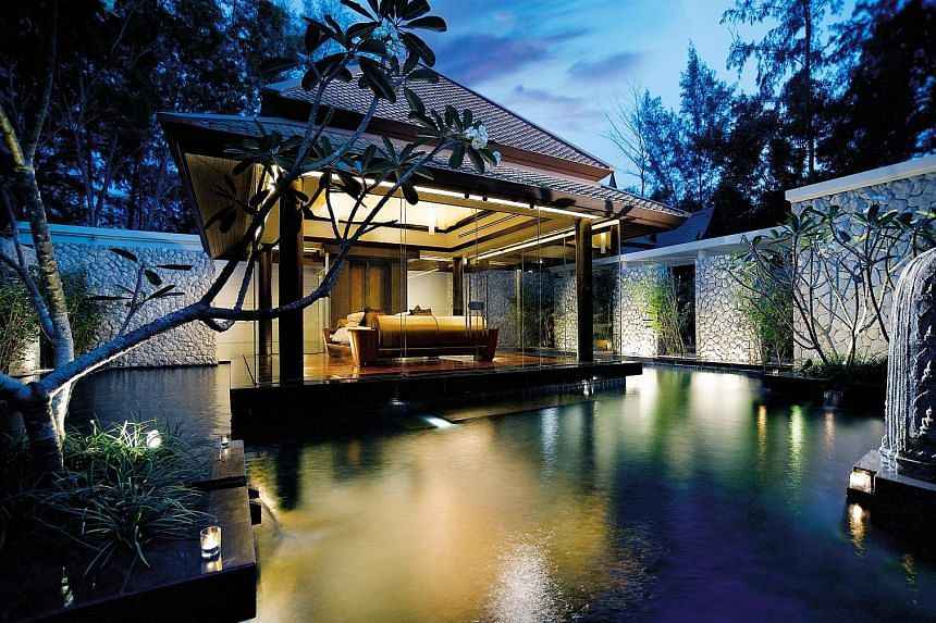 A Banyan Tree villa in Phuket. Banyan Tree Holdings' fourth-quarter revenue increased 9 per cent, partly due to higher turnover from its Thailand, Seychelles, Indonesia and Morocco resorts.