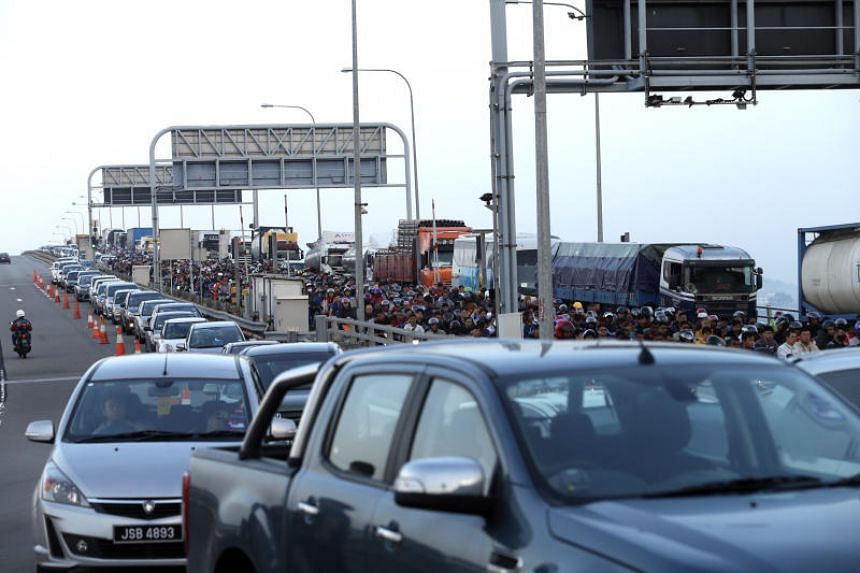 File picture of Tuas Checkpoint. The incident happened at the checkpoint on Aug 10 last year when motorist Leong Tuck Kwong and his friend Chan Kok Leng were caught in heavy traffic on their return from Malaysia.