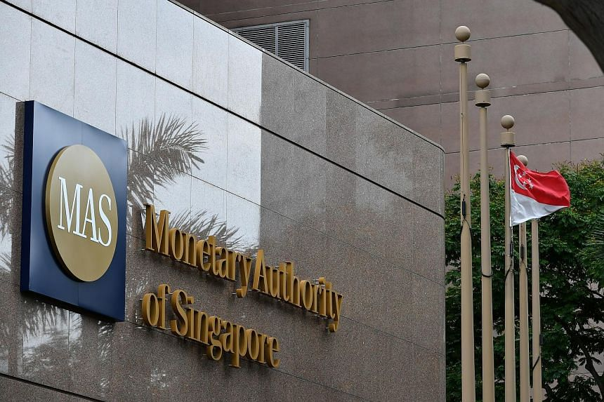 The Monetary Authority of Singapore building along Shenton Way seen in a photo taken on June 19, 2017.